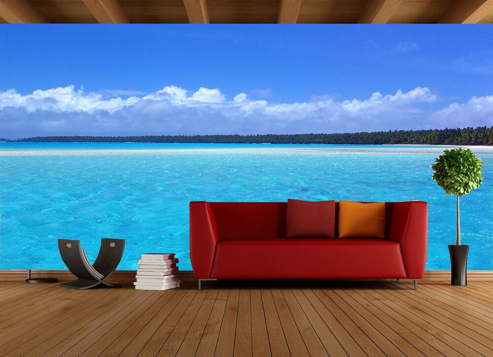 3D Blauen Himmel Meer 85 85 85  Tapete Wandgemälde Tapete Tapeten Bild Familie DE | Kunde zuerst  b66e7b