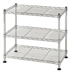Muscle Rack Ws181018 C Steel Adjustable Wire Shelving 3 Shelves ...