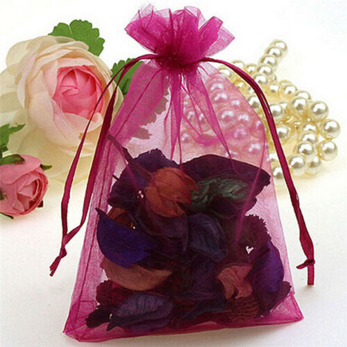 50pc Organza Gift Bags Jewelry Candy Bag Wedding Favor Bags Mesh Gift Pouches Pl