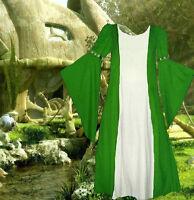 Costume Gown Medieval Renaissance SCA Garb Heraldic GreenWhite Particolored 1pc