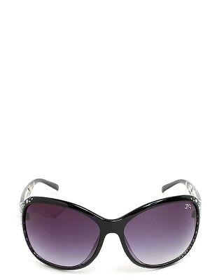 Spunky Black Crystal Embossed Sunglasses