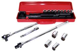 "13pc 1//2/"" Dr Deep Air Impact Sockets wrench MM Set Chrome Vanadium Steel Metric"