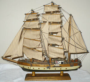 Details About Vintage Wood Model Ship Boat Gorch Fock Assembled
