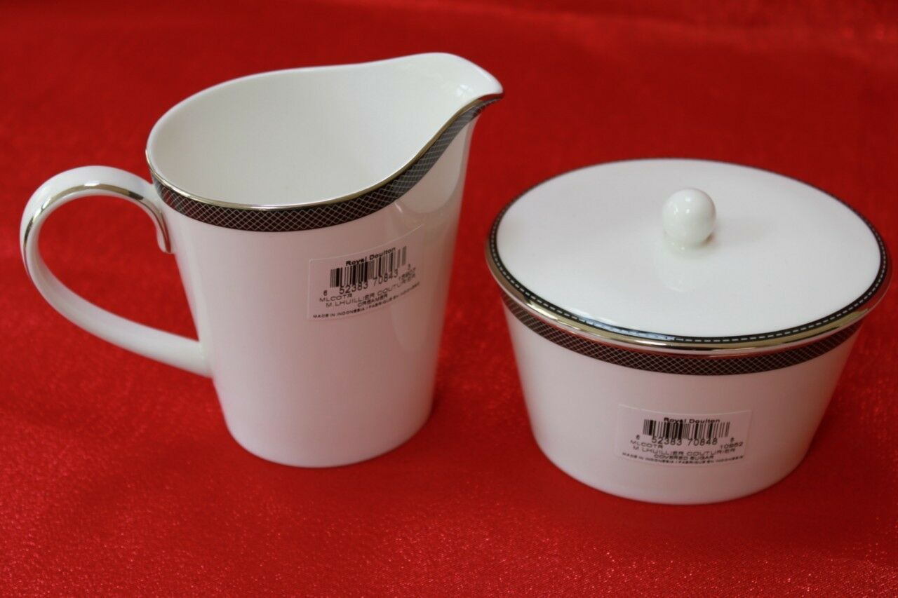 ROYAL DOULTON MONIQUE LHUILLIER COUTURIER-Creamer et couverts Sugar Bowl - 3PC