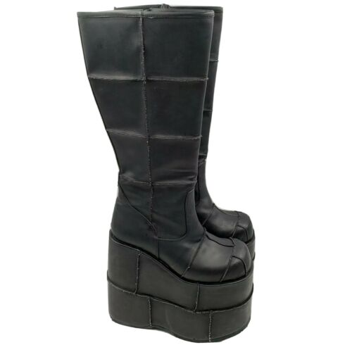 Goth Demonia Black Vegan Leather Platform High Hee