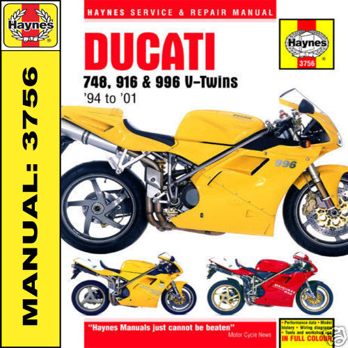 haynes workshop manual 3756 for ducati 748 916 and 996 v twins ebay rh ebay co uk ducati 748 workshop manual pdf ducati 748 service manual download