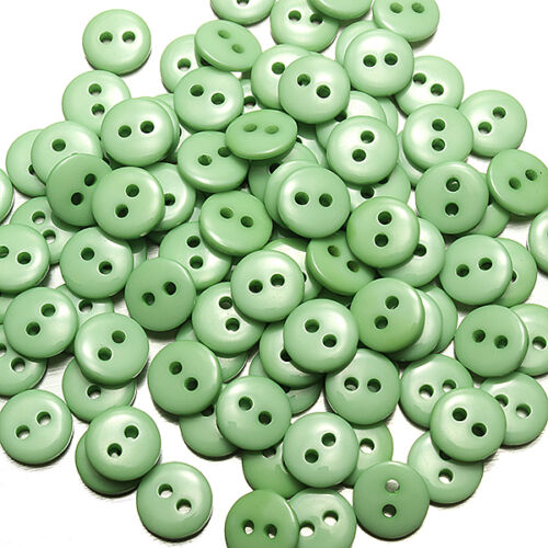 200pcs……Candy Colors Round Resin Buttons Craft Scrapbook Sewing 15 mm 2 Holes