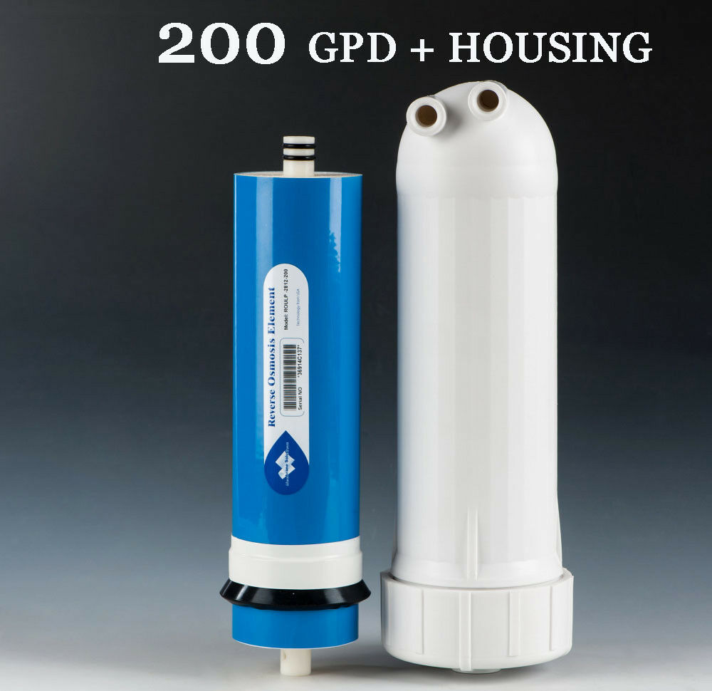 Best Residential 200GPD Reverse Osmosis RO Membrane Big Flow Sealed + Housing