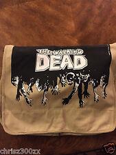 The Walking Dead Messenger Bag Laptop Logo TAN Tv Series / SDCC 2014 Comic Con