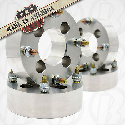 """To 4 x 4.5"""" Wheel Adapters 2/"""" Spacers 12mm 1.5 Studs 114.3mm 4 USA 4 Lug 4.5"""""""
