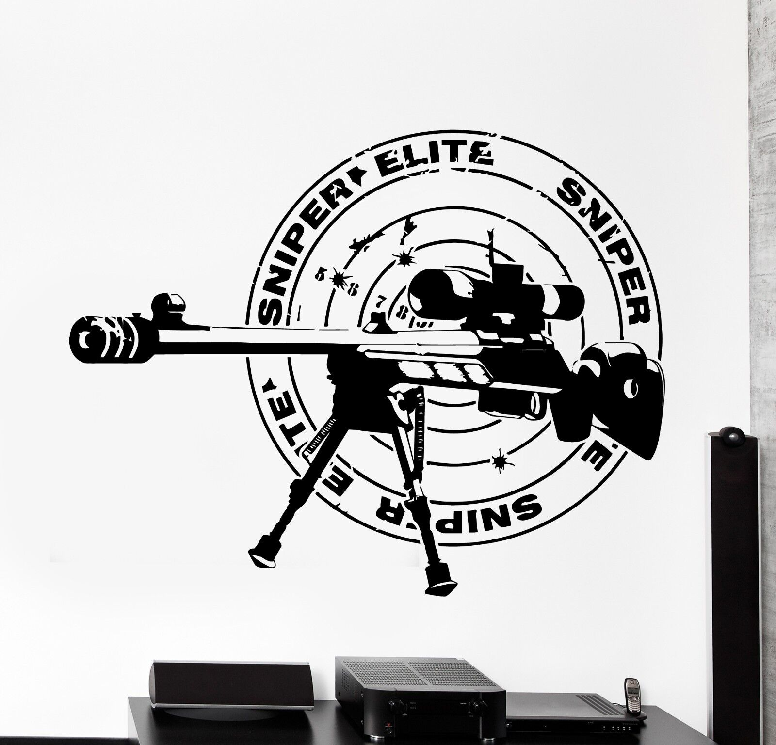 Wand Vinyl Sniper Rifle Army Forces War Guaranteed Quality Decal (z3437)