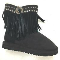 Montana West Kids Fashion Western Boots Warm Fur Lining Moccasin Shoes