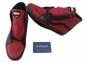 Détails sur Vans x Marvel 2018 (Deadpool) Cuir Noir Rouge Chaussures De Skate Homme Sz 9.5 Neuf dans sa boîte NEW afficher le titre d'origine