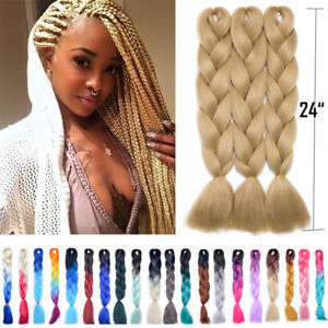 Blonde Twist Braids Senegalese Crochet Braiding Hair Extensions Box