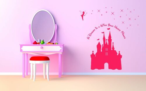 Castle & Fairy Princess A Dream is a Wish your Heart Makes wall decal sticker