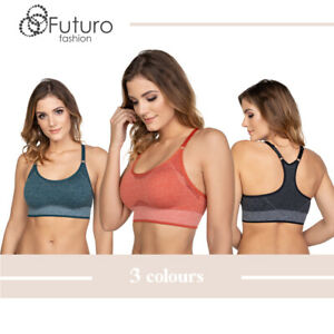 Women-039-s-Sport-Bra-Gym-Fitness-Yoga-Comfortable-Ladies-Padded-Crop-Top-FG9116