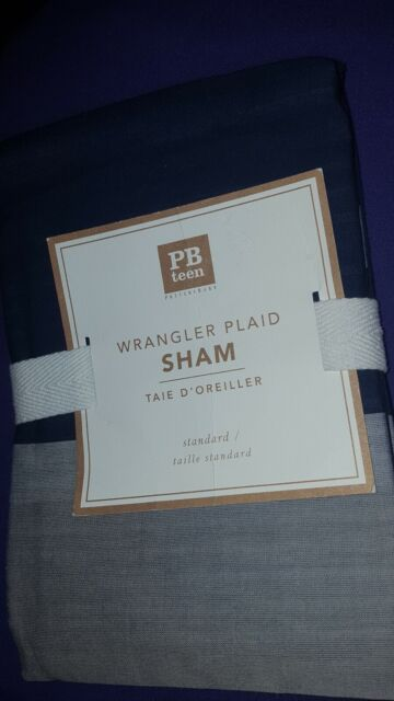 New Pottery Barn Teen Wrangler Plaid Sham Standard Ebay