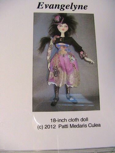 """SKATING REINDEER~Frowning Francis 11/"""" AWESOME UNIQUE CLOTH ART DOLL PATTERN 2015"""
