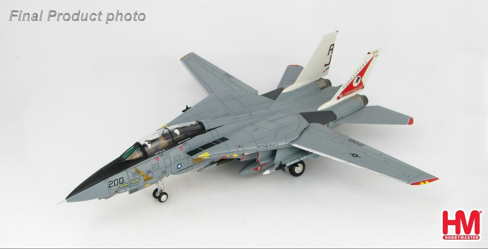 F-14A Tomcat VF-14 Tophatters US Navy 80th Anniversary Hobby Master HA5214