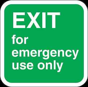Adhesives, Sealants & Tapes Shop For Cheap Health And Safety Green Safety Sticker Exit For Emergency Use Only Sticker High Resilience Glues, Epoxies & Cements