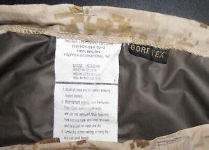 GORE-TEX-PANTS-TROUSERS-USMC-DESERT-MARPAT-CAMOUFLAGE-LARGE-REGULAR