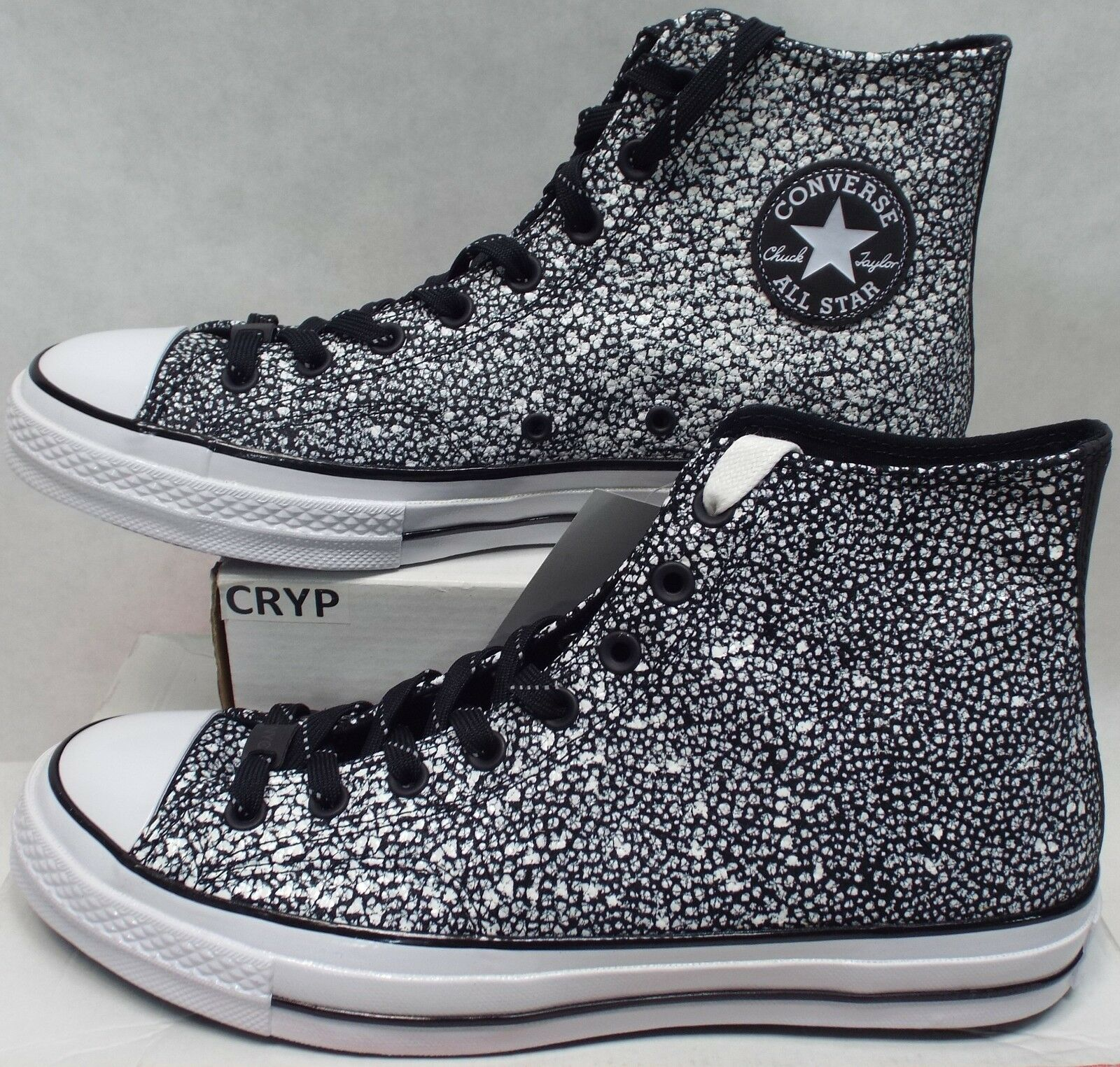 New Mens 12 Converse Chuck Taylor Texturot Leather Asphalt NYC 156702C  150