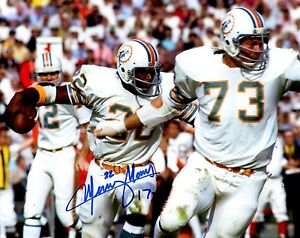 Signed 8x10 MERCURY MORRIS Miami Dolphins Autographed photo - w/COA
