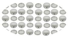 100 Fabric Self Covered Buttons 38mm FLAT Back Cabochons DIY Cover Button 60L