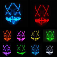 New!Halloween LED Mask Costume The Purge Election Year Movie Rave Party Festival