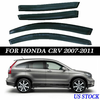 for Honda CRV 2007-2010 2011 Window Visors Sun Rain Wind Shade Guard Shield US