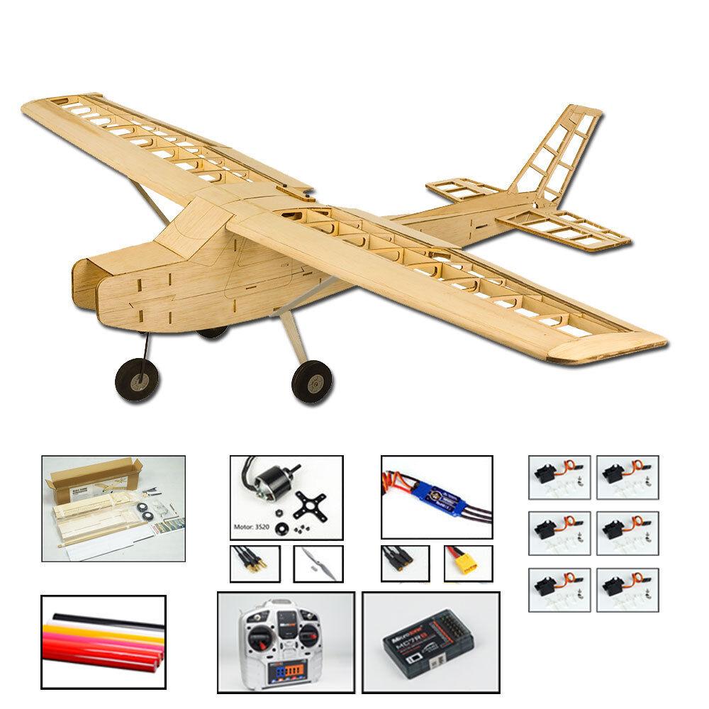 47  Electric Balsa Training Airplane CESSNA CESSNA CESSNA 152 RC Balsa modello Unassembled c10df0