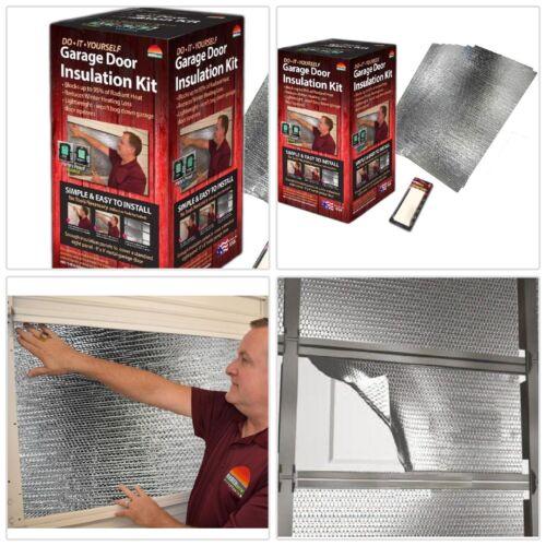 Air Reflective Garage Door Insulation Complete Kit Retains Heat Pre-Cut Panels