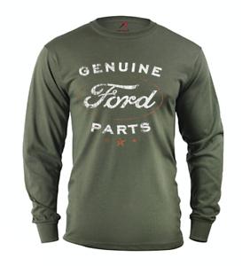 long sleeve t-shirt for men Genuine Ford Parts tin sign design tee shirt racing