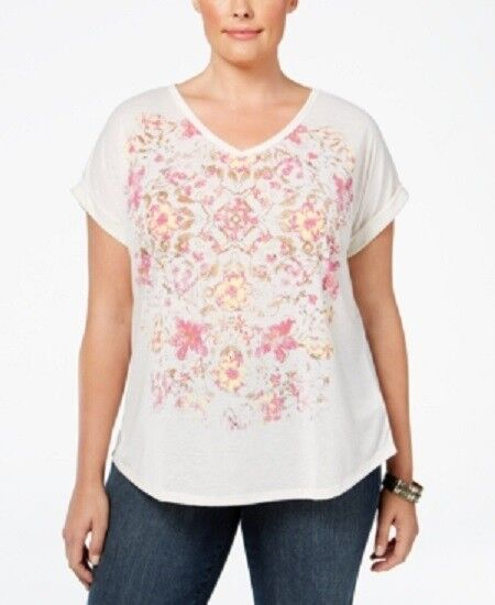 Style /& Co Women/'s Plus Size Printed T-Shirt