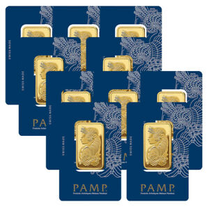 Lot-of-10-Gold-1-oz-PAMP-Suisse-Lady-Fortuna-9999-Fine-Bars-BANK-WIRE-ONLY