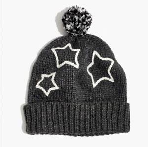 660ef919378 NWT Madewell Women s by J.CREW stars starry pom-pom beanie Hat One ...