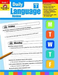 Details about Evan-Moor Daily Language Review, Grade 7 Teacher's Edition -  Supplemental Teachi
