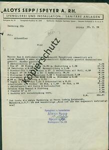 Alte-Rechnung-Aloys-Sepp-Spenglerei-Sanitaer-Speyer-am-Rhein-Pfalz-1939