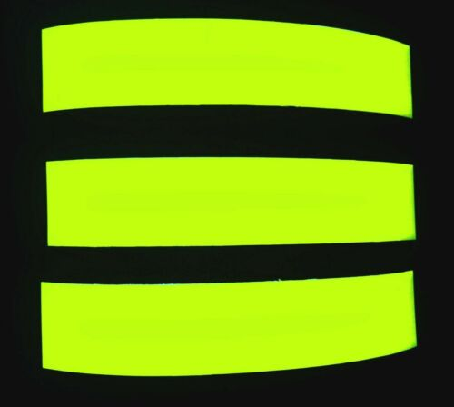 3 Neon Gelb floureszierend floureszent Tagleuchtend Fahrrad Fahrradaufkleber