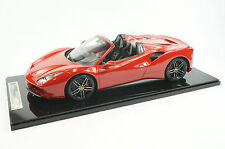 1/12 BBR FERRARI 488 SPIDER IN COLOR ROSSO TRISTATO RED LIMITED 5 PIECES N MR