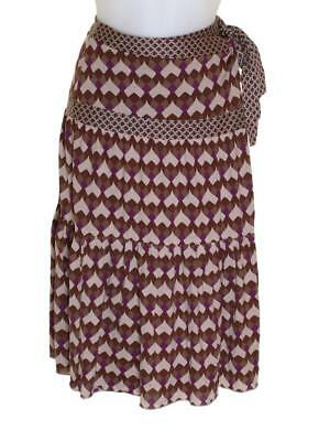 Bnwt Women/'s French Connection Chiffon Silk Sequin Wrap Skirt RRP£120 Fcuk New