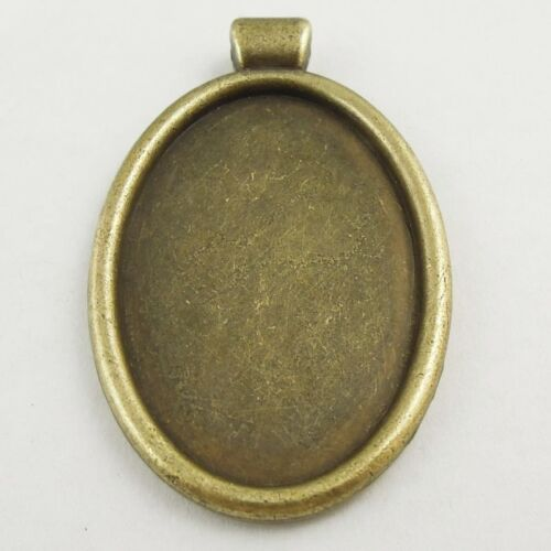 30PCS Vintage Bronze Alloy Oval Cameo Setting 18*13 mm Pendant Charms 37825