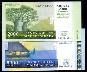 MADAGASCAR 2,000 2000 Ariary 2007 P-93 Commemorative UNC
