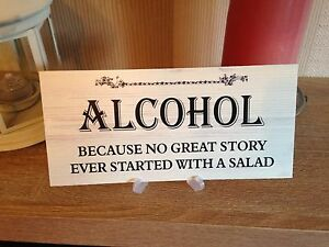 Shabby Amp Chic Wedding Signs Plaques Funny Alcohol Message