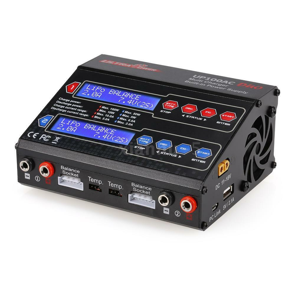 UP100AC DUO 100W LiIo LiPo LiFe NiMH NiCD Battery Multi Charger Discharger