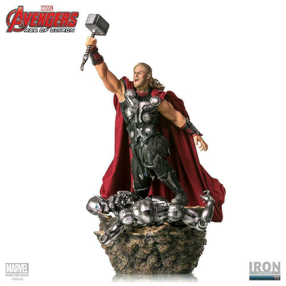 Iron Studios Marvel Age of Ultron AOU Thor 1/6 Battle Diorama on eBay thumbnail