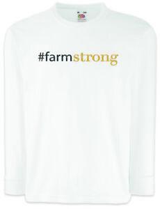#farmstrong Kinder Langarm T-shirt Modern Phil Bauer Family Fun Cameron Strong