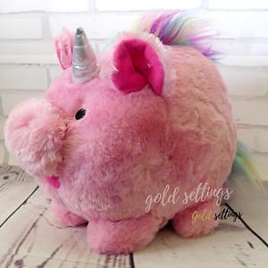 Pig Plush Unicorn Piggy Bank Coin Money Saving Bank Box Christmas Gift for Kids