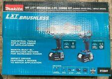 Makita Xt288t 18v Lxt Lithium Ion Brushless Cordless Combo Kit 50ah