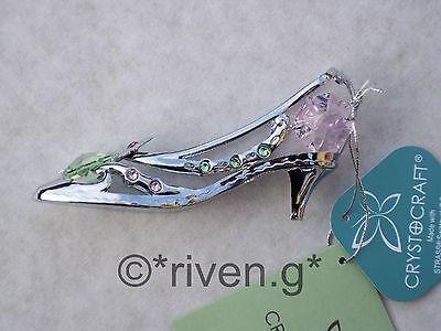 Crystocraft cromado Zapato de tacón alto estatuilla de regalo con joya ornamental